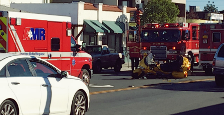 Five injured in Crash