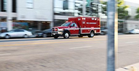 San Antonio, TX - Car and Occupied Ambulance Collide on Babcock Rd